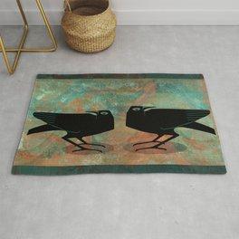 Odin's Ravens Huginn and Muninn Rug