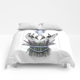 crystal hands colored Comforters
