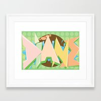 crossfit Framed Art Prints featuring Crossfit (WOD) Poster - Diane by Blur 116th