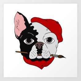The Artist - bouledogue français Art Print