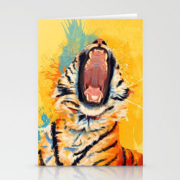 Wild Yawn - Tiger portrait Stationery Cards