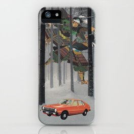 Dreaming in The Red Car iPhone Case