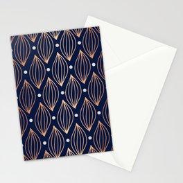 COPPER WAVE - NAVY BLUE Stationery Cards