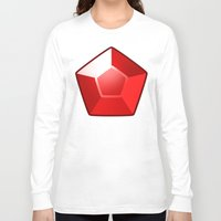 ruby Long Sleeve T-shirts featuring ruby by tsynali