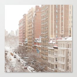 Snow Day in the Upper West Side Canvas Print