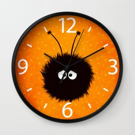 Orange Cute Dazzled Bug Winter Wall Clock