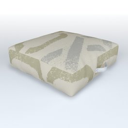 Shapes Of Love - Pastel Green Bold Pattern Outdoor Floor Cushion