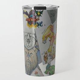 Collage Doodles Travel Mug