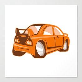 Cartoon style sports car isolated Canvas Print