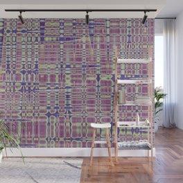 Purple Geometry Wall Mural