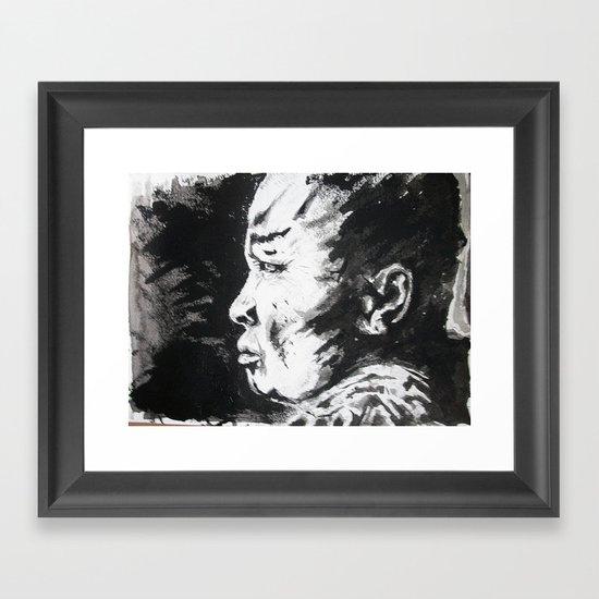 Monje/Monk Framed Art Print