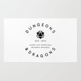 DUNGEONS & DRAGONS - WHERE THE IMPOSSIBLE BECOMES POSSIBLE Rug