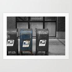 chicago mailboxes Art Print