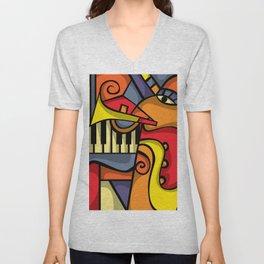 Abstract Jazz art Unisex V-Neck