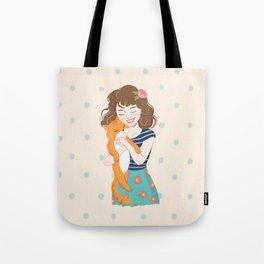 Lovely Cat Mom Tote Bag