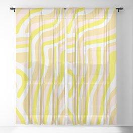 yellow zebra stripes Sheer Curtain