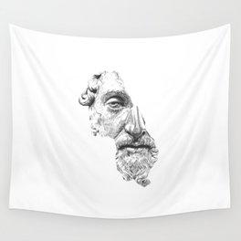 MARCUS AURELIUS ANTONINUS AUGUSTUS / black / white Wall Tapestry