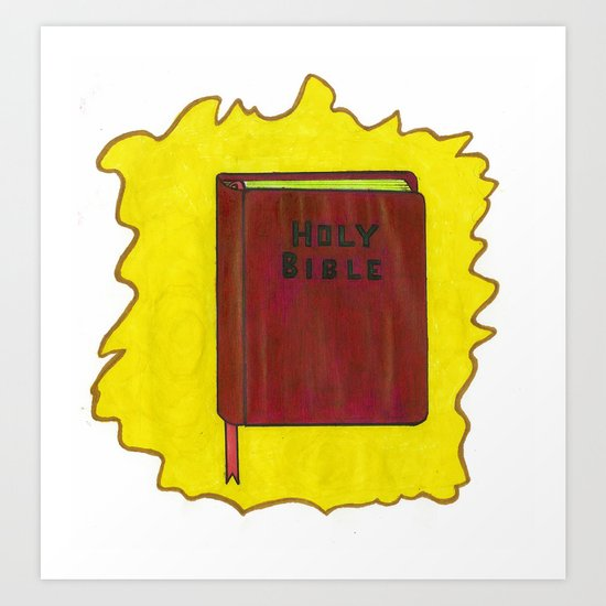 Holy Bible Art Print
