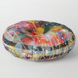 Kandinsky Action Painting Street Art Colorful Floor Pillow
