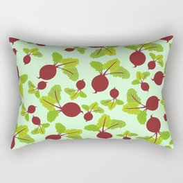 Beetroot Pattern Rectangular Pillow