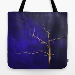 Kintsugi Gold Royal Blue Watercolor Tote Bag