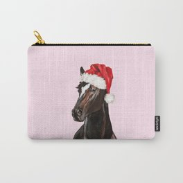 Christmas Horse in Pink Carry-All Pouch