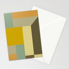 Retro Geometry IV Stationery Cards