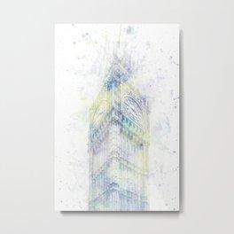 Modern Art BIG BEN   watercolor Metal Print