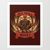 whisky Art Prints featuring Red Whisky by Corey Courts