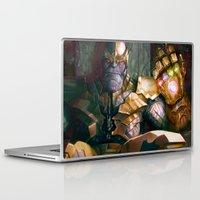 thanos Laptop & iPad Skins featuring Thanos: Infinity Gauntlet  by MATT DEMINO