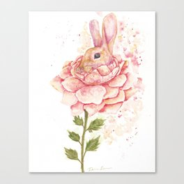 Flower Bunny Canvas Print
