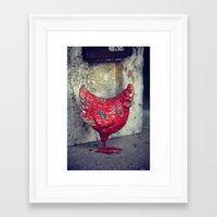 chicken Framed Art Prints featuring Chicken by KunstFabrik_StaticMovement Manu Jobst