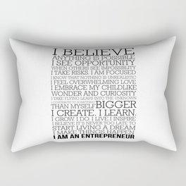 Entrepreneur Manifesto Rectangular Pillow