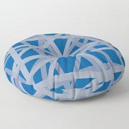 Silver Silver & Blue Floor Pillow