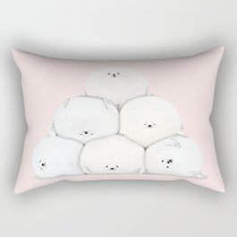 Harp Seal Pups Rectangular Pillow