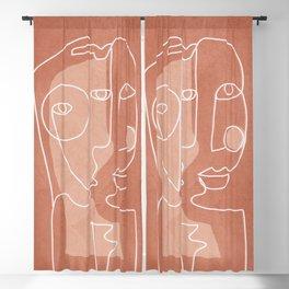 Faces 01 Blackout Curtain
