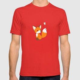 Cute Little Fox Watching Butterly T-shirt