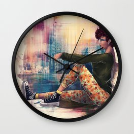 Think In Colour Wall Clock