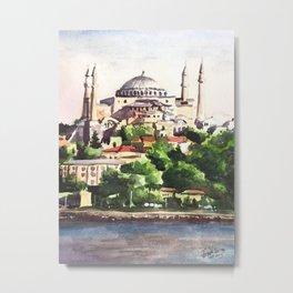 Istanbul Turkey Hagia Sophia Metal Print