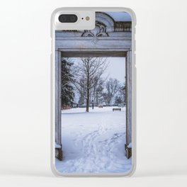 Winter Views Clear iPhone Case