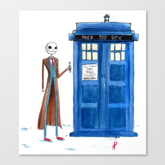 Doctor Wholington, Pumpkin Time Lord King! Canvas Print