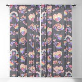 Rainbow guppy 2 Sheer Curtain
