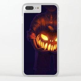 Jack'o'Lantern (#Drawlloween2016 Series) Clear iPhone Case