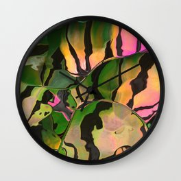 Vegetarian Zebra Wall Clock