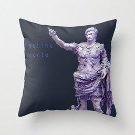 MAKE HASTE SLOWLY - Augustus Caesar Throw Pillow