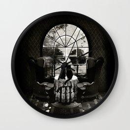 Room Skull B&W Wall Clock