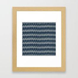 MUD CLOTH DENIM 1 Framed Art Print