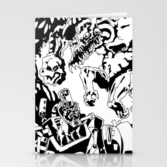 Doktor Steampug- Black and White Stationery Cards