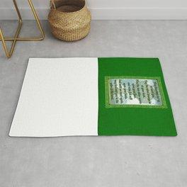 Green Irish Blessing Rug