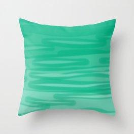 Tropical Blue-Green Dreams 1 Throw Pillow